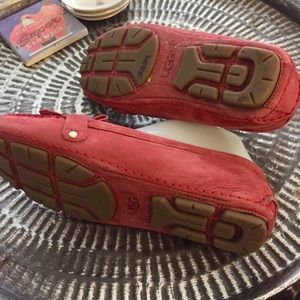 UGG Shoes - Ugg Loafers red leather Sz 8.5 Good Condition
